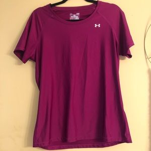 Under Armour Heat Gear Womens T-Shirt Large Fitted